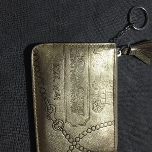Coach Key Ring with card wallet